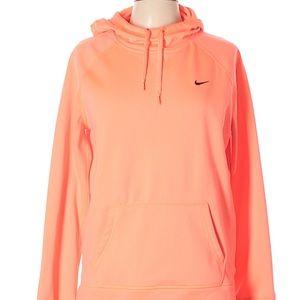 Nike Athletic Peach Orange Hooded Sweatshirt | S